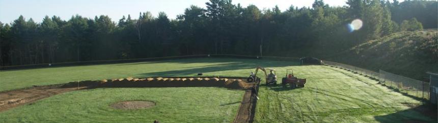 Baseball infield installation